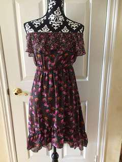 Maurices Floral Women's Off Shoulder Dress Size Small