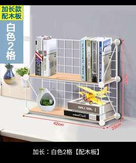 🚚 創意電腦桌上書架時尚桌面書櫃兒童簡易置物架小型辦公收納架簡約客廳居家小坪數小家庭衣櫃櫥窗收納架