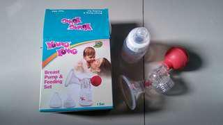 Breast pump & feeding set