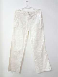 SALE Liz Claiborne White with embroidery Wide-leg Pants (overruns)