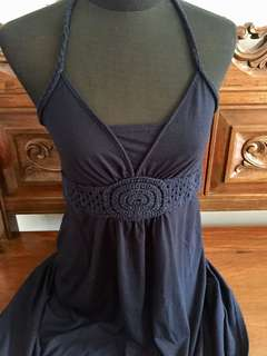 Blue Halter Dress Used but in Good Condition