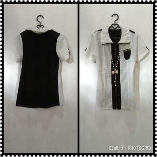 Blouse Zipper Black & White