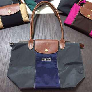 Longchamp Bag personalized blue grey 自訂款式