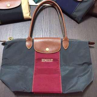 Longchamp Bag personalized dark red grey 自訂款式