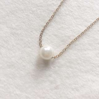 Gold-tone Chain with Pearl Pendant