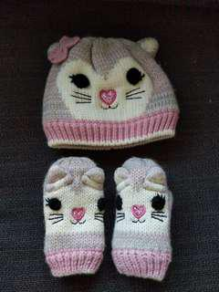 Almost new Mothercare Winter Beanie & Gloves