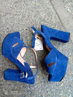 Repriced!! Mango block heels
