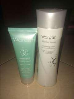 White Secret Exfoliating Lotion and Peeling Cream