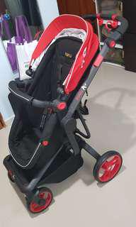 Puku A+ Stroller in Red (price reduced!)