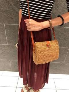 Clam Rattan Bag