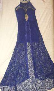 Dress Mewah Elegant Party - New no tag. Lace panjang kesan kebaya