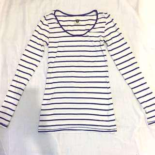 Cotton on blue stripes long shirt