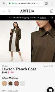 Aritzia babaton Lawson trench coat