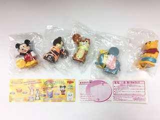 Yujin Disney Characters Walking Mascots Set