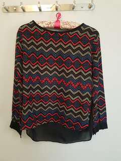 Aztec Long sleeves see through back
