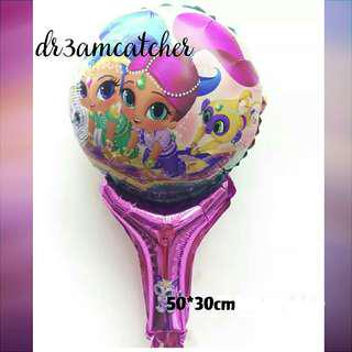 2 designs! Shimmer and Shine hand held balloon