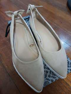 Parisian Kylie Pointed flats (Nude)