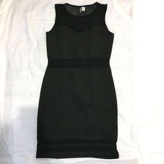 H&m divided black dress