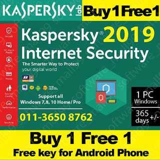 Kaspersky 1 user 2019 Internet Security