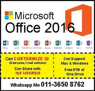 Microsoft Office 2016 for Mac/Win Lifetime