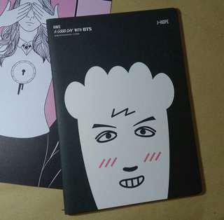 BTS J-Hope Jungkook HIPHOP MONSTER Notebook