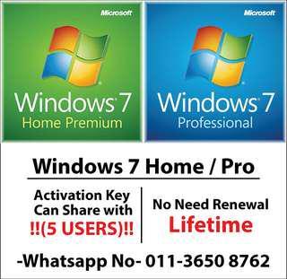 Windows 7 Home / Pro (5 users)