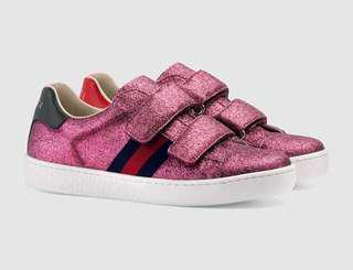 Gucci Pink Glitter Sneakers