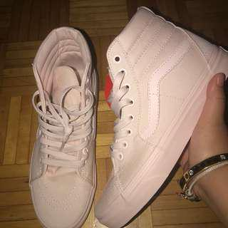 Vans high tops light pink