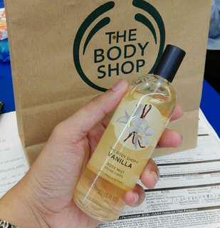 The body shop body mist vanilla