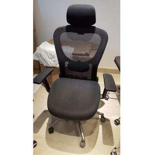High End Office Desk Mesh Chair headrest lumbar tilt lock