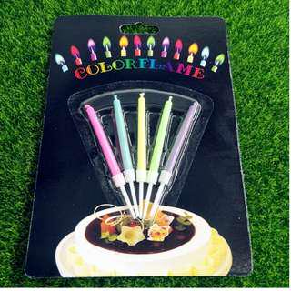 Color Flamed Candles