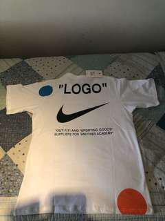 Off White x Nike Mercurial White Tee Shirt
