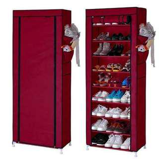 FREESF 9 Layers Grid Shoe Rack Storage Cabinet