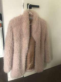 Verge girl shaggy oatmeal coat size 8