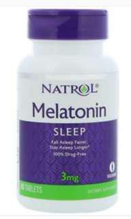 2 x Natrol Melatonin Sleep 褪黑激素 3mg 60 Tablets