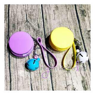 Small Round Pouch Coin Dollar Notes Ear piece House Key Accessories Keypouch