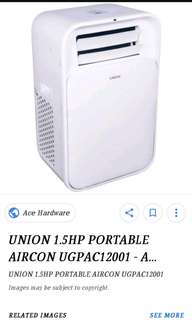 Union portable air-con 1.5hp SALE!!!