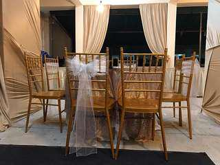 Low grade Tiffany chairs for rent