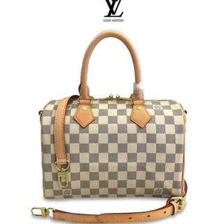 ea107710e4d3 Authentic Quality Louis Vuitton Speedy Bandoulière Canvas Bag Signature  Design LV Doctors Bag Handbag Crossbody Bag