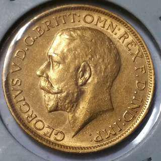 British Gold Sovereign 1918 Sydney Mint