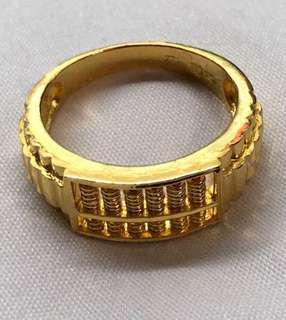 916 Gold Ring w unique abacus design ❤️💙