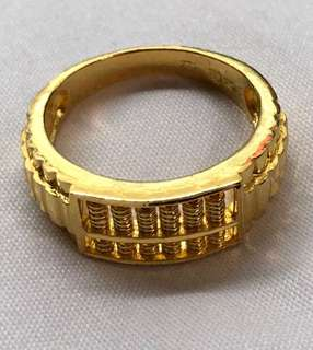 Lovely pure gold ring (added abacus design) ❤️💙❤️💙