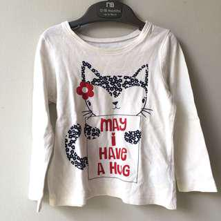 MOTHERCARE White long sleeve t-shirt baju anak lengan panjang preloved murah #maucoach
