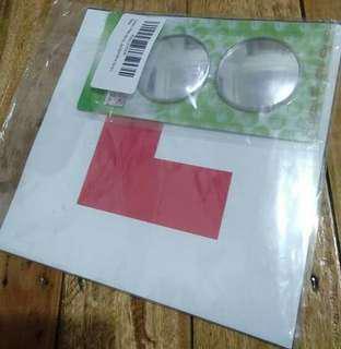 Learner L Plates + 2 Spot Mirrors