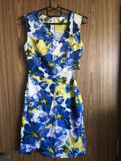 MGP cut out floral dress