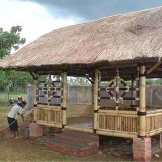 Jual saung gazebo bambu tukubagus