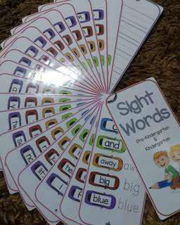 Sight Words Strips