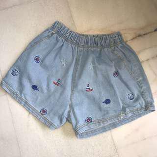 Sailor Denim shorts