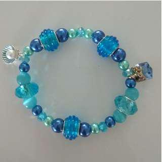 Colorful PEARL BRACELET with funny pendants
