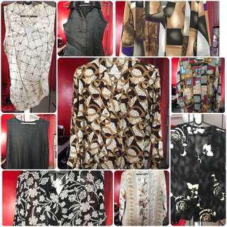 Korea style Ladies printed Clothes for stocklot sales